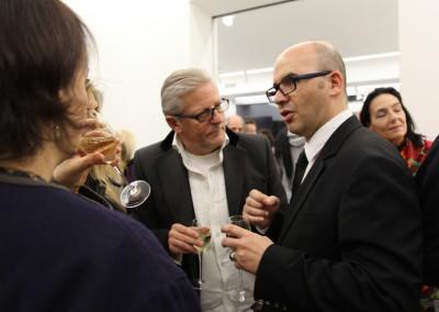 Der belgische Künstler Jan Fabre und Hervé Lancelin