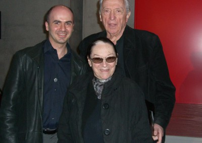 The French artist Pierre Soulages, his wife Colette and Hervé Lancelin