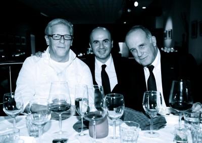 El artista belga Jan Fabre, Hervé Lancelin y el artista israelí Ra'anan Levy