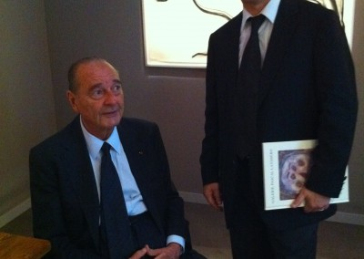 Former French President Jacques Chirac and Hervé Lancelin