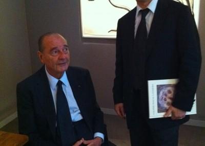 L'ancien Président français Jacques Chirac et Hervé Lancelin